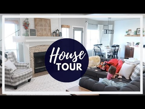 MODERN FARMHOUSE TOUR 2019 | FURNISHED HOUSE TOUR | BEFORE AND AFTER | MILITARY FAMILY