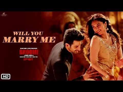 Will You Marry Me Video Song | Bhoomi |Aditi Rao Hydari, Sidhant | Sachin - Jigar |Divya&Jonita