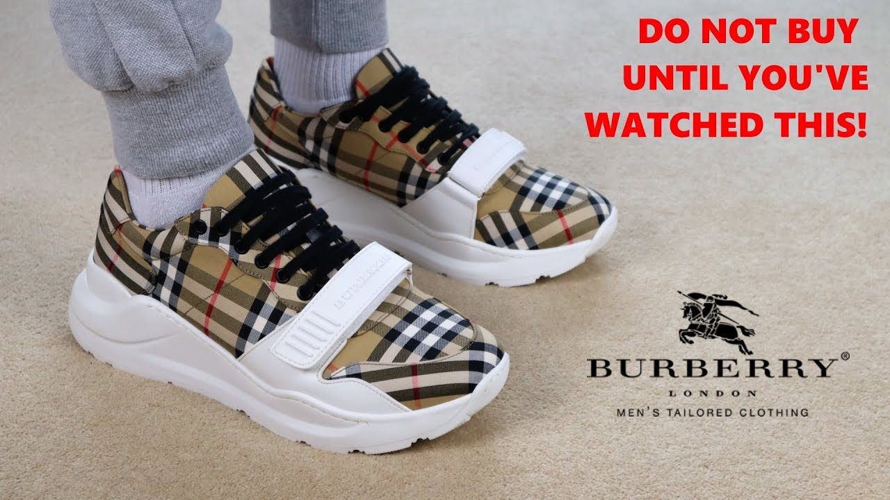 f42280665ac Are Burberry's Check Sneakers Worth It? (Burberry On Feet Review)