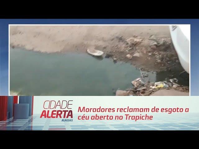 Moradores reclamam de vazamento de esgoto no bairro de Cruz das Almas