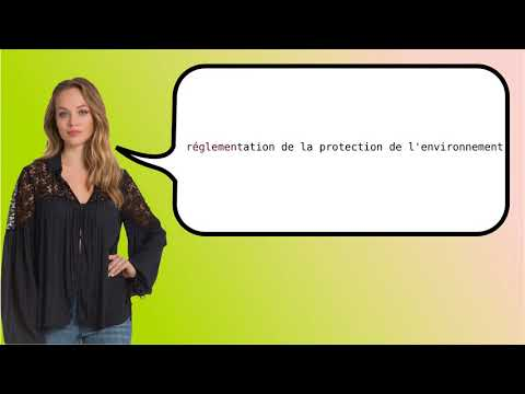 How to say 'environmental protection regulation' in French?