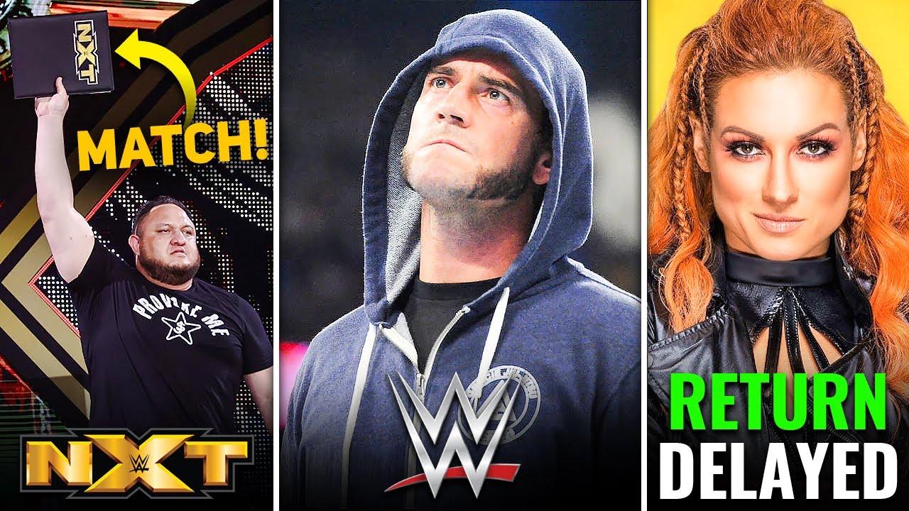 Samoa Joe MATCH Confirmed🔥 CM Punk WWE Interest! Becky Lynch Return DELAYED! | WWE NXT Highlights