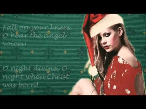 Avril Lavigne - Oh Holy Night - Lyrics - FULL HD - Christmas Style ☃