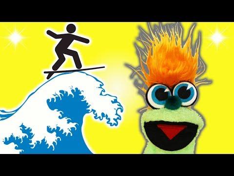 FUNNY OCEAN SURFING JOKE! - JOKES FOR KIDS! 100% Child-Appropriate Jokes! LOL! FUNNY! Sock Puppet!