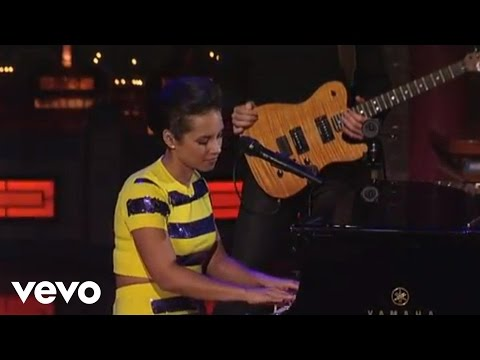 Alicia Keys  If I Aint Got You  on Letterman
