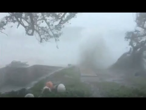 Hurricane Nicole Hitting Bermuda, October 13 2016