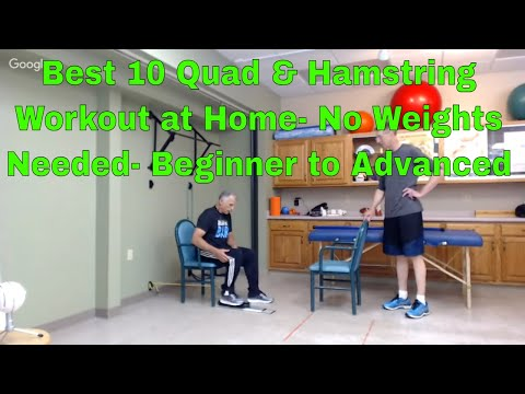 Best 10 Quad & Hamstring Workout at Home-No Weights Needed-Beginner to Advanced