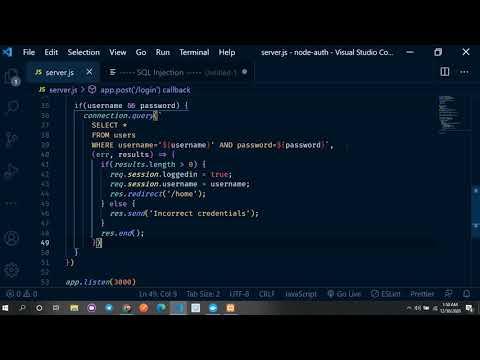 SQL Injection in a Node.js app (Bangla)