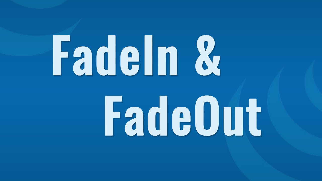 JQuery fade in fade out effect on HTML Elements - Learn JQuery in Hindi