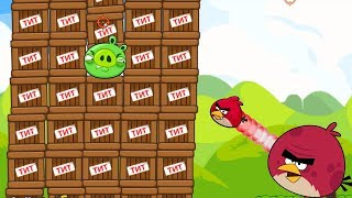 Angry Birds Cannon Birds 1 - EXPLODE THE PIGGIES INSIDE 1000 TNT FULL!
