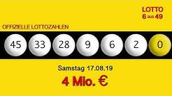 Lottozahlen 17.08.19 Lotto6aus49