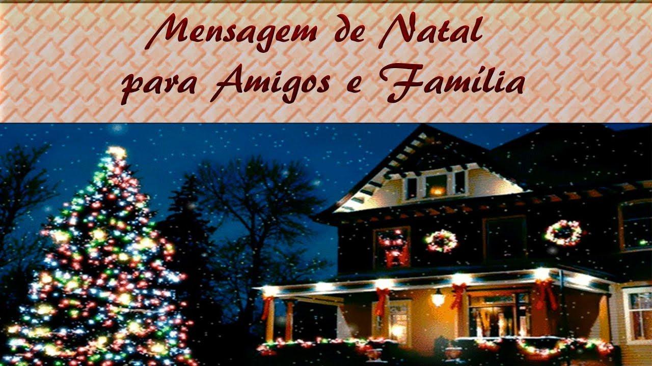 Mensagem De Natal Para Amigos E Família
