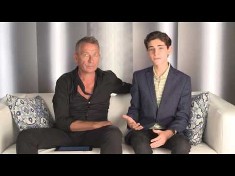 David Mazouz and Sean Pertwee Gotham