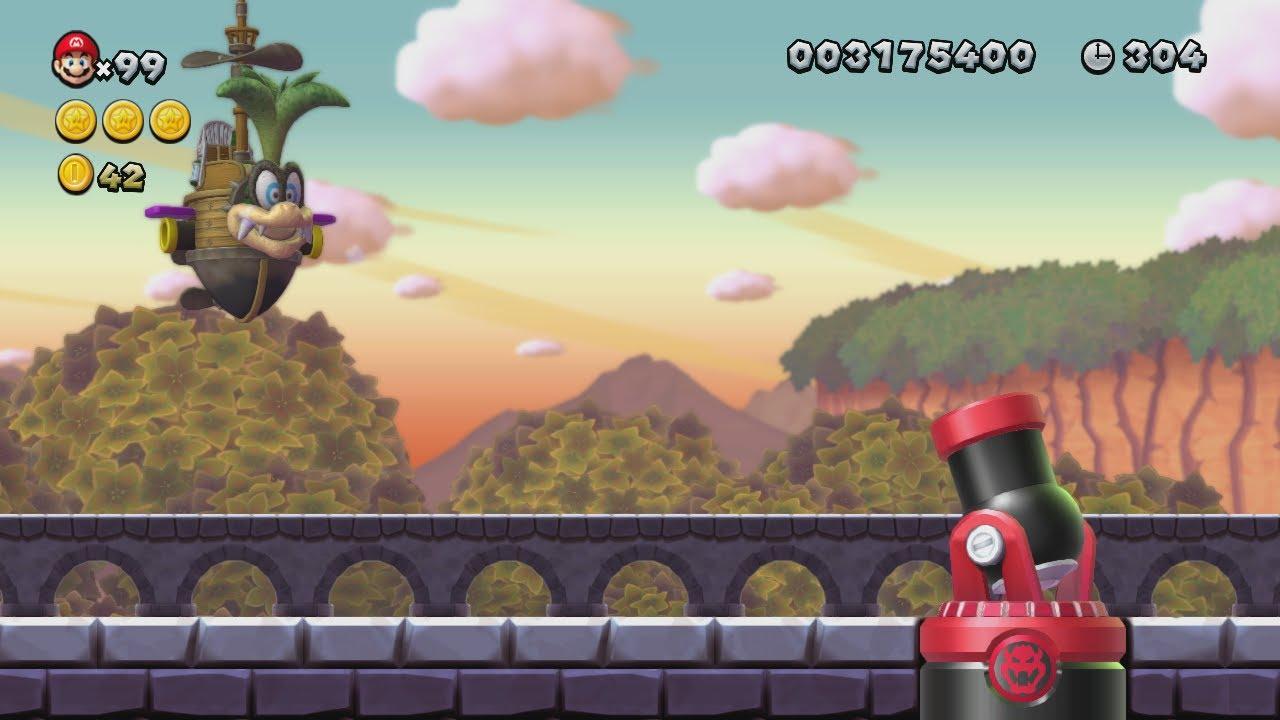 New Super Mario Bros U Soda Jungle Complete World 5 Youtube