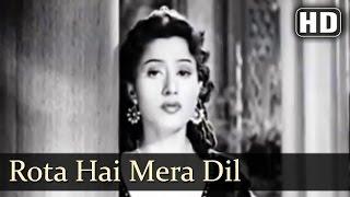 Rota Hai Mera Dil - Badal 1951 Song - Madhubala - Lata Mangeshkar - Sad Song