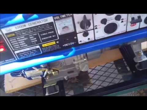 tool shed 6500w 5500w generator youtube. Black Bedroom Furniture Sets. Home Design Ideas