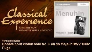 Johann Sebastian Bach : Sonate pour violon solo No. 3, en do majeur BWV 1005 : Fuga