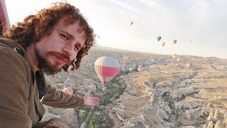 How does it feel to fly 900 meters in a hot air balloon? | Cappadocia - Turkey 🇹🇷