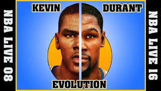 KEVIN DURANT evolution [NBA LIVE 08 - NBA LIVE 16] 🏀