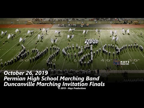 2019 Permian High School Marching Band - 10/26/2019 Duncanville Invitational Final Performance