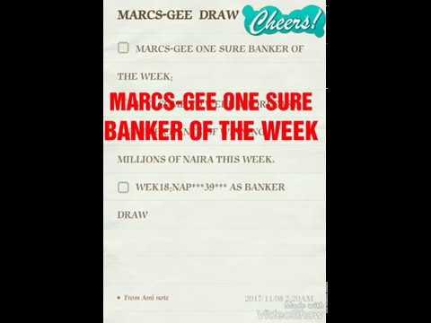 MARCS GEE ONE SURE BANKER OF THE WEEK