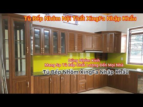Bàn Giao Tủ Bếp Nhôm Nội Thất Xingfa Nhập Khẩu Trị Giá 35 triệu Tại Kim Thành Hải Dương   0389144999