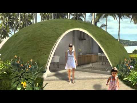 Colorful Binishell Dome Homes Made from Inflatable Concrete Cost Just $3500 : inflatable concrete tent - memphite.com