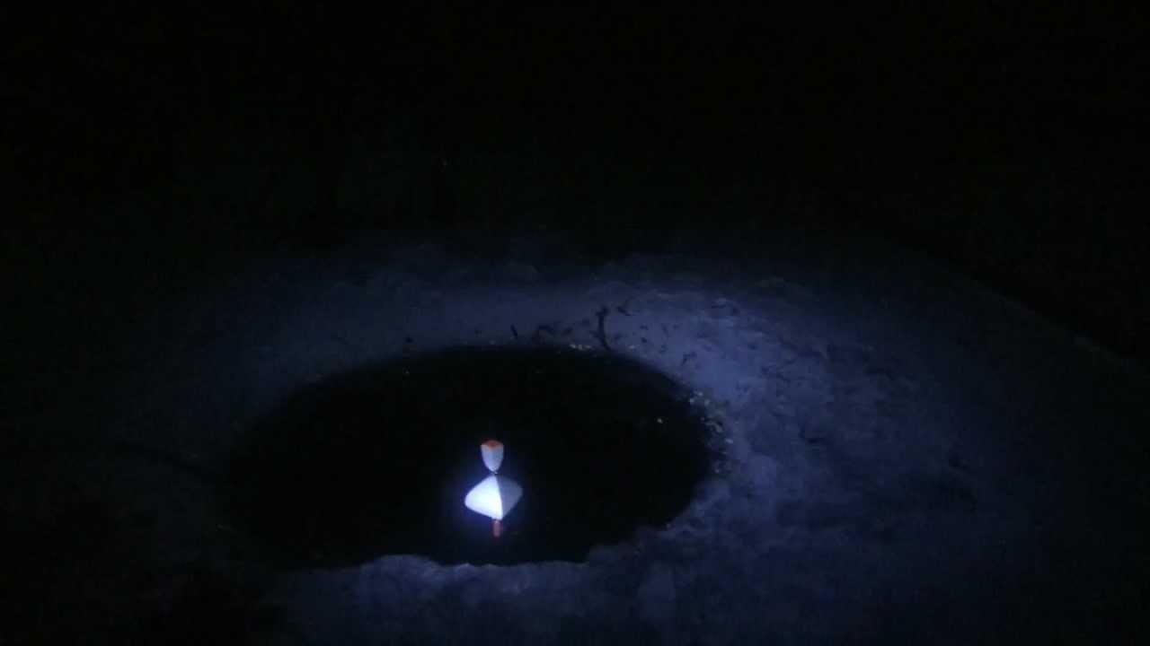 Подсветка лунки при ночной рыбалке