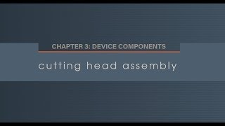 Chapter 3.4 Cutting Head Assembly