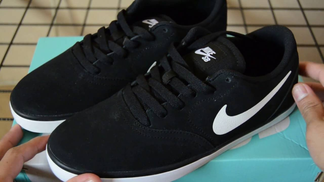 En segundo lugar Adelaida entrenador  Nike SB Check Black/White (Unboxing) - YouTube