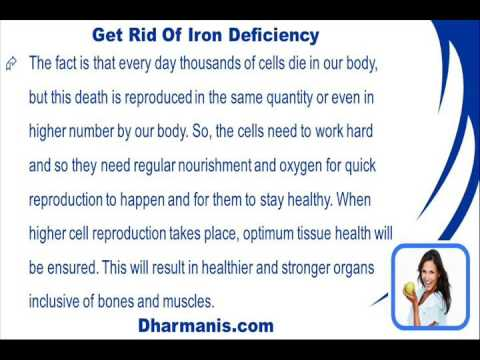 how to get rid of iron deficiency