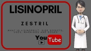 💊What is lisinopril?. Side effects, uses, doses, warnings and benefits of lisinopril (Zestril).💊