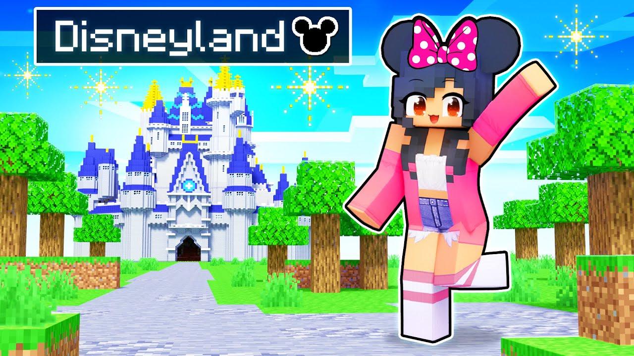 Taking My Friends To DISNEYLAND In Minecraft!