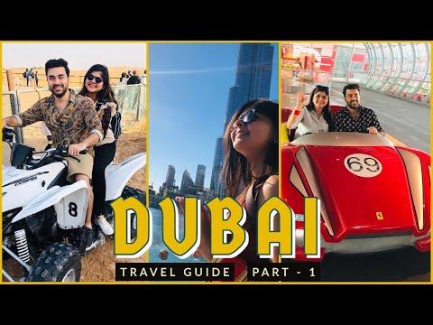 Dubai Travel Guide Part 1 | Desert Safari, Ferrari World, Burj Khalifa, Cruise, Mosque | Must visit