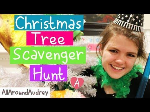 CHRISTMAS TREE SCAVENGER HUNT CHALLENGE! / AllAroundAudrey