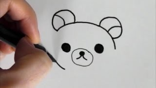 [slowly version]  How to draw Rilakkuma   face-version   [Japanese character]  illustration