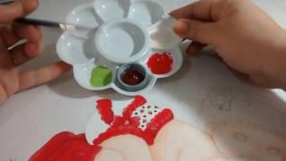 Dica:como fazer estampa em roupinha de bebe(moranguinhos)