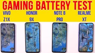 Honor 9X vs Vivo Z1x, Note 8 Pro, Realme XT: Extreme Gaming Test | Battery Drain Test | Heating Test