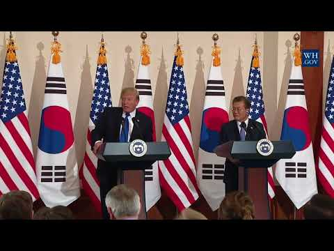 SOUTH KOREA: President Trump Participates in a Joint Press Conference with President Moon