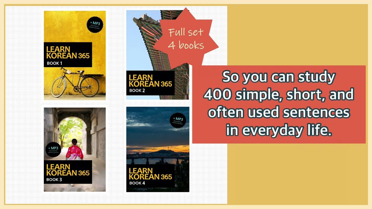 Full set of Learn Korean 365 Book(1~4)