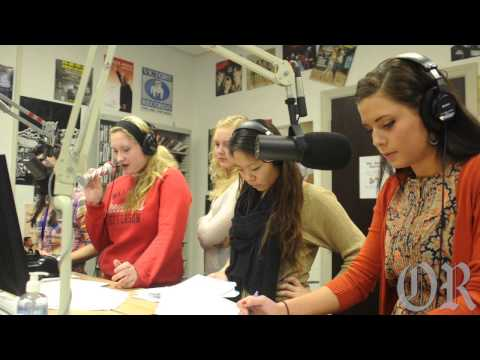 W&J students perform on-air radio play