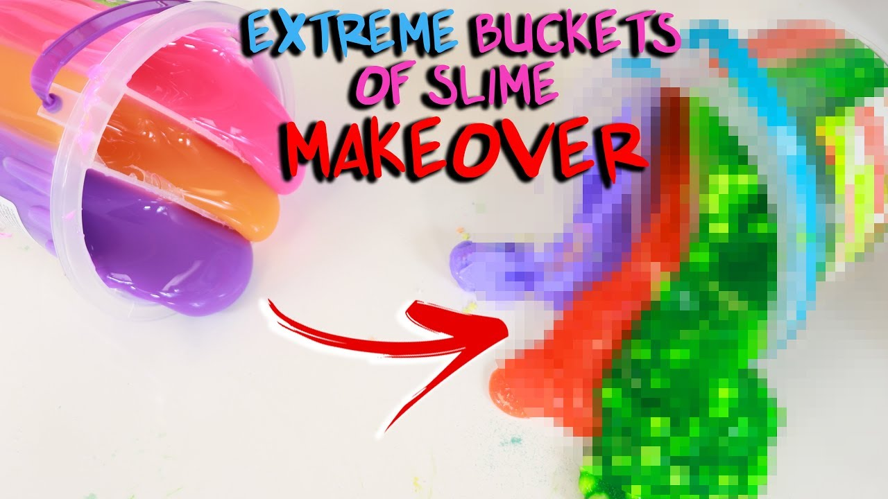 extreme-bucket-of-slime-makeover-fixing-store-bought-slimes-slimeatory-483