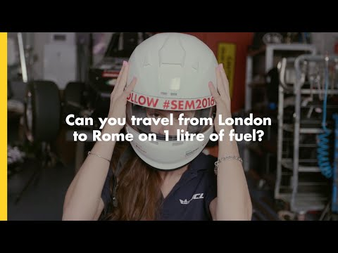 Can you travel from London to Rome on 1 litre of fuel? | Shell #makethefuture