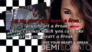 Karaoke Give your heart a break Demi Lovato Instrumental 360p