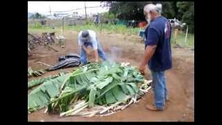 Imu Maui, Hawaiian style of cooking laulau. Po
