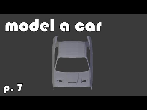 Model a 3d Car   part 7   hood vents and topology examples