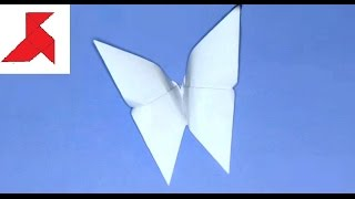 Как сделать простую оригами бабочку из бумаги А4?(Делаем своими руками по инструкции маленькую объемную бабочку из стандартного белого листа бумаги формата..., 2015-09-08T14:29:25.000Z)