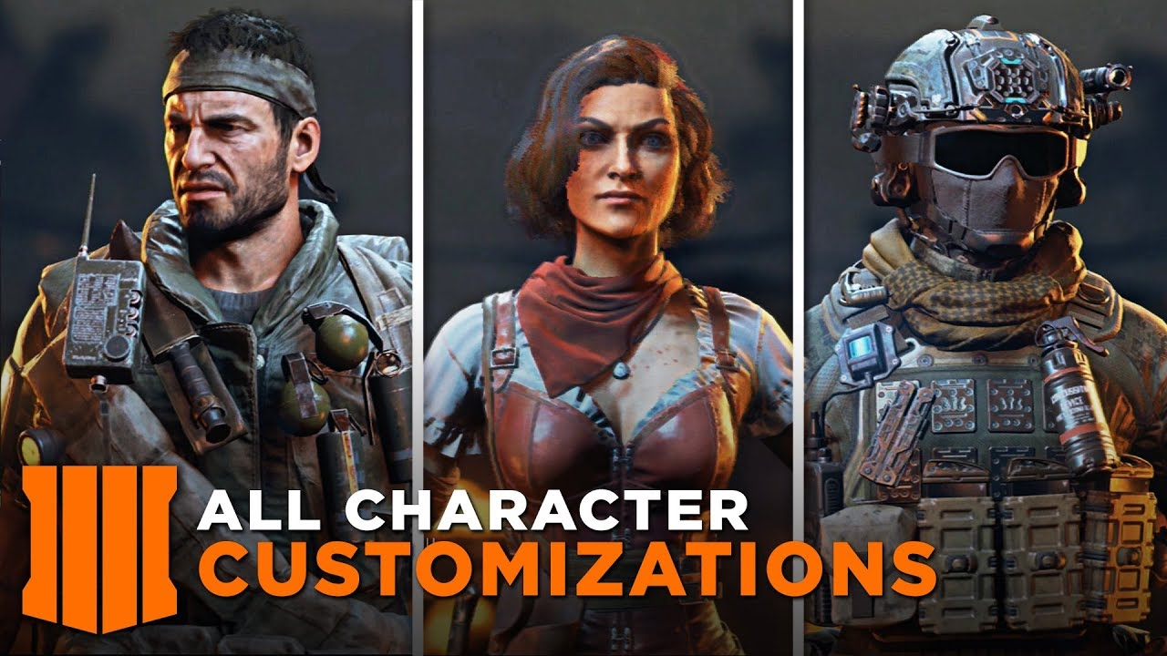 All Character Customization All Skins Specialist Outfits Call