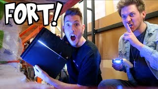 HIDDEN PLAYSTATION RAFTERS FORT!