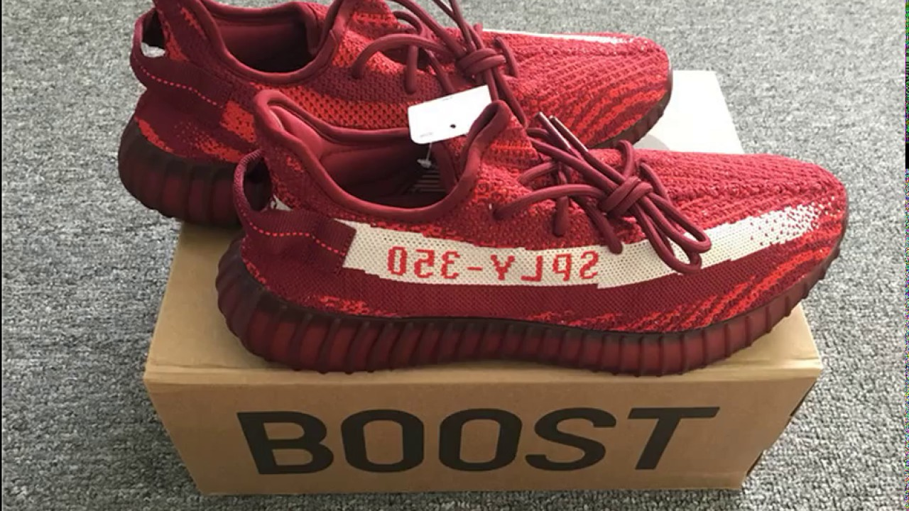 cbd2467c4 2018  Adidas Yeezy Boost 350 V2  RED WINE ZEBRA  Tmall Original ...